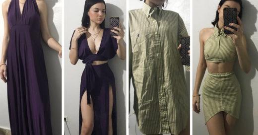 Esta chica modifica prendas de segunda mano en increíbles y sexis atuendos
