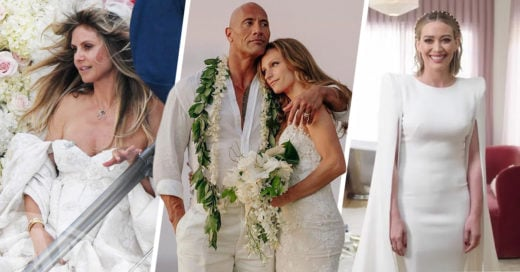 14 Famosas que se lucieron con sus vestidos de novia en el 2019