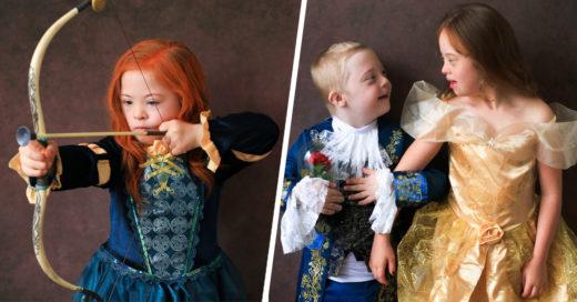 Niños con Síndrome de Down posan como personajes Disney y enternecen a internet