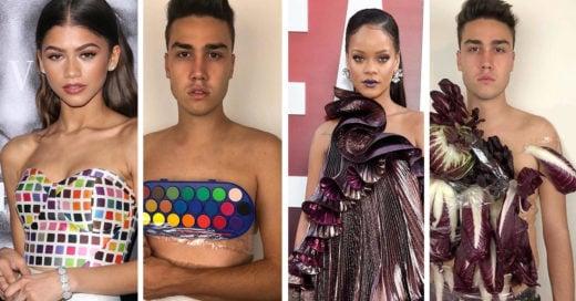 Recrea outfits de famosos con bajo presupuesto y se vuelve viral