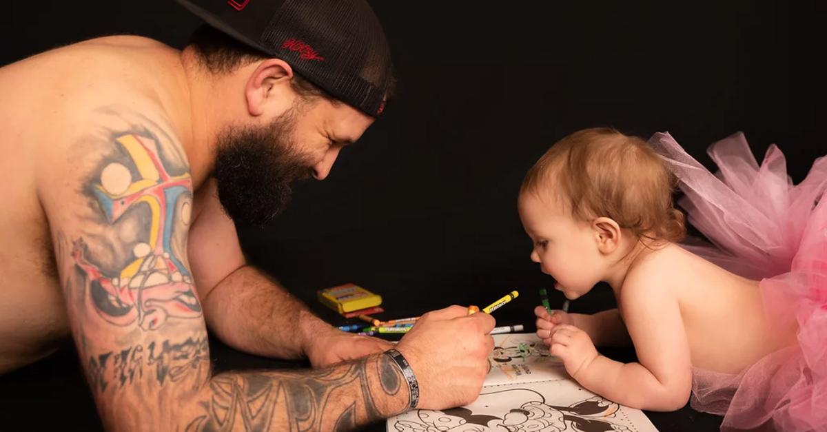 Sesión de fotos padre e hija conmueve a internet