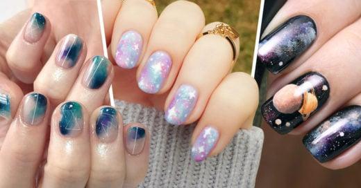 15 Diseños de uñas galaxia para llevar el universo en tus manos