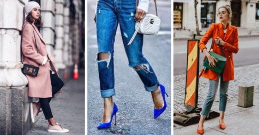 Combina tu ropa y tu estado de ánimo con zapatos de colores