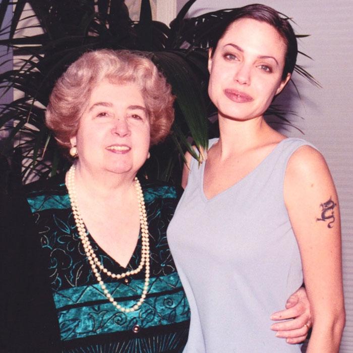 Maria Snoeys-Lagler y Angelina Jolie