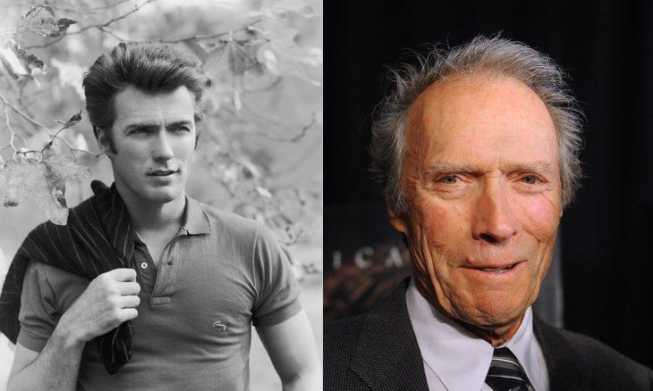 Clint Eastwood en la etapa adulta y en su juventud