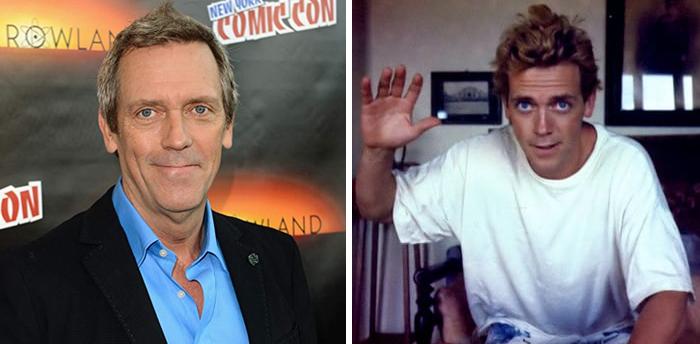 Hugh Laurie en la etapa adulta y en su juventud