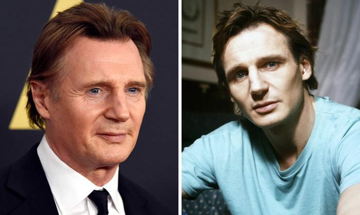 Liam Neeson en la etapa adulta y en su juventud