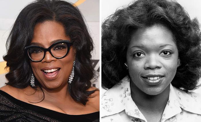 Oprah Winfrey en la etapa adulta y en su juventud