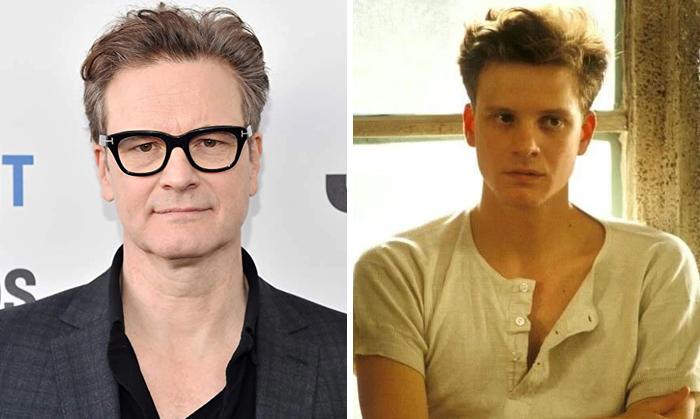 Colin Firth en la etapa adulta y en su juventud