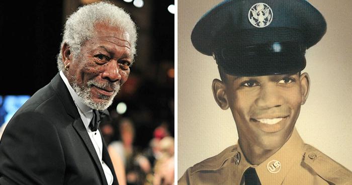 Morgan Freeman en la etapa adulta y en su juventud