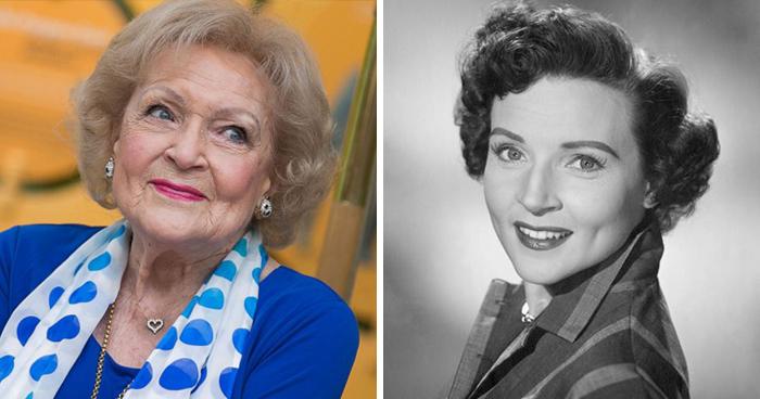 Betty White en la etapa adulta y en su juventud
