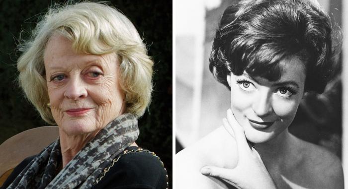 Maggie Smith en la etapa adulta y en su juventud