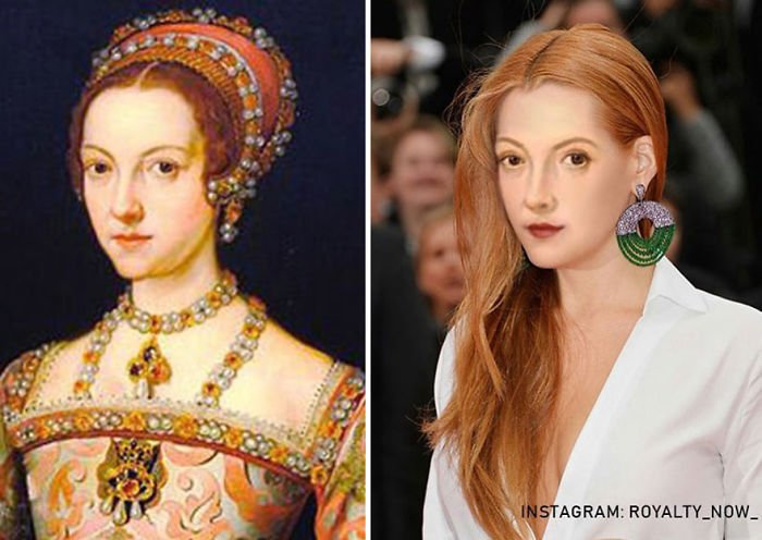 Catherine Parr recreada en la época actual por el artista Royalty Now