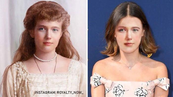 Anastasia Romanov recreada en la época actual por el artista Royalty Now