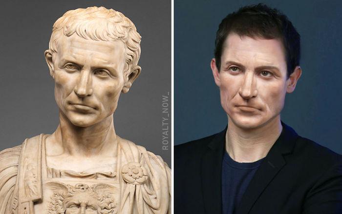 Julio César recreada en la época actual por el artista Royalty Now