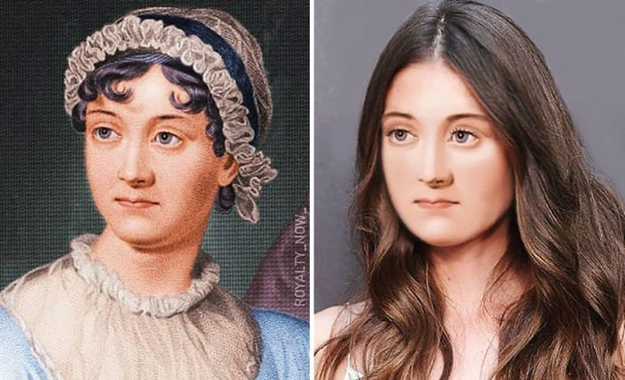 Jane Austen recreada en la época actual por el artista Royalty Now