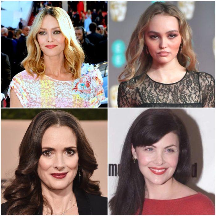 Vanessa Paradise, Lily Rose, Winona Ryder y Anne Allison en una alfombra roja