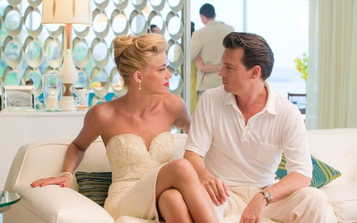 Johnny Depp y Amber Herad en The Rum Diary