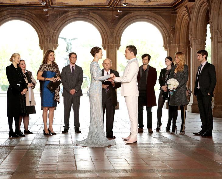 Escena de Gossip Girl, en la que Blair y Chuck y se casan