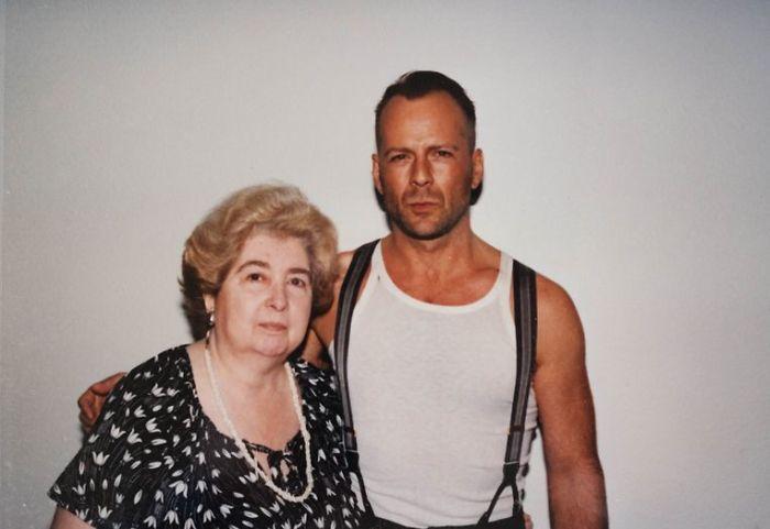Maria Snoeys-Lagler y Bruce Willis