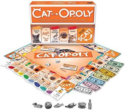 Juego de mesa Cat Opoly para jugar Monopoly pero con gatitos