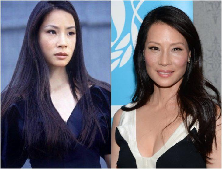 Lucy Liu en su juventud y en la actualidad 2020