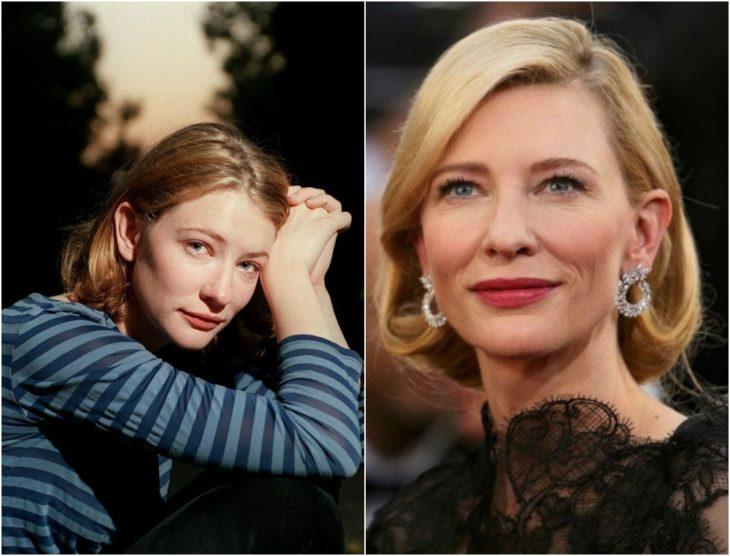 Cate Blanchett en su juventud y en la actualidad 2020