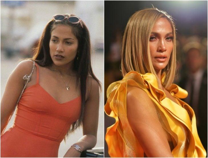 Jennifer Lopez en su juventud y en la actualidad 2020