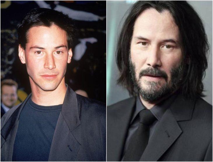 Keanu Reeves en su juventud y en la actualidad 2020