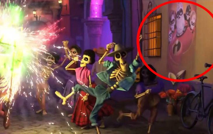 Poster de los Increíbeles en escena de Coco
