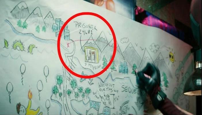 Dibujo de la película Deadpool donde aparece Wolverine