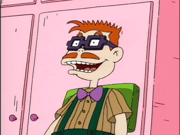 Carlos Finster sonriendo escena Rugrats