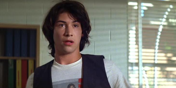 Keanu Reeves en Las aventuras de Bill y Ted