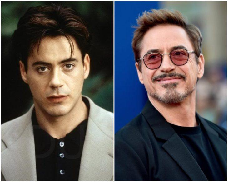 Robert Downey Jr. en los 90 y actualmente