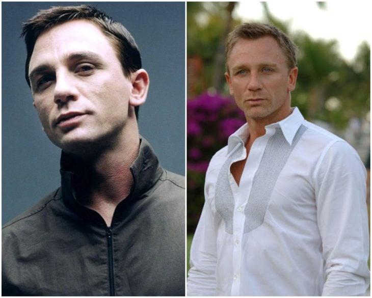Daniel Craig en los 90 y actualmente