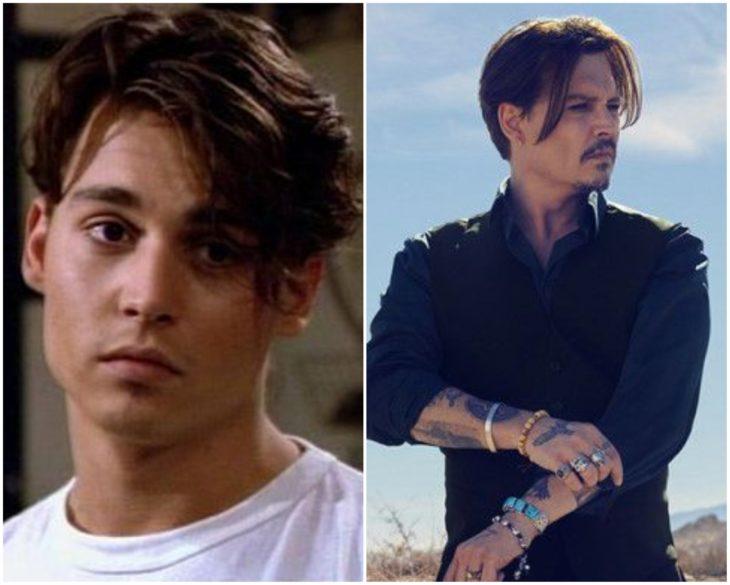 Johnny Depp en los 90 y actualmente