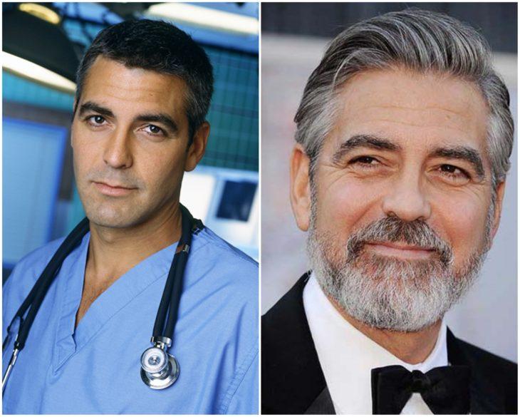 George Clooney en los 90 y actualmente