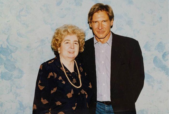 Maria Snoeys-Lagler y Harrison Ford