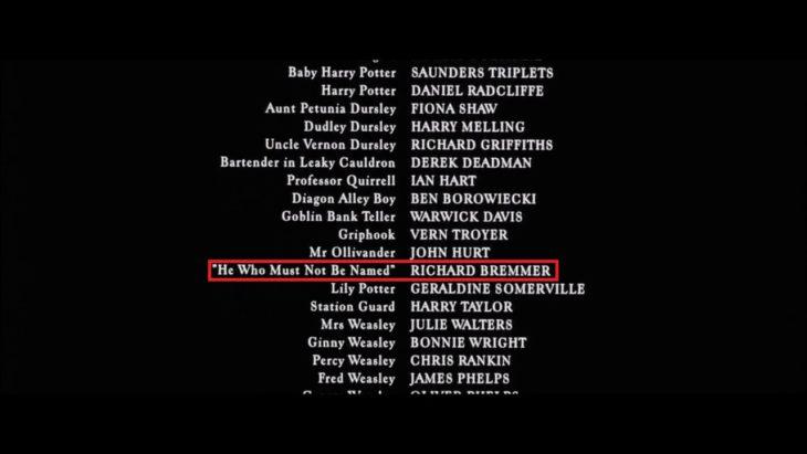 Créditos de Harry Potter y la Piedra Filosofal