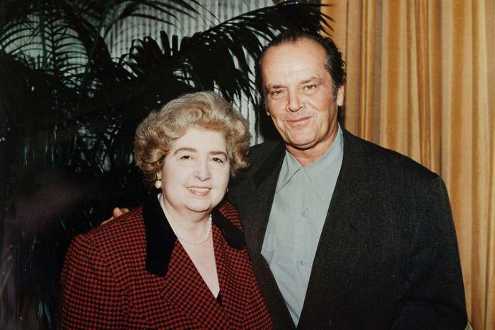 Maria Snoeys-Lagler y Jack Nicholson