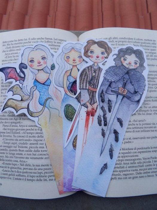 Separadores de libros de los personajes de la serie Juego de Tronos