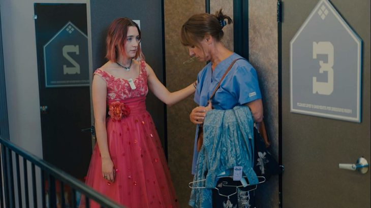 Escena de la película Lady Bird, en la que Christine habla con su madre