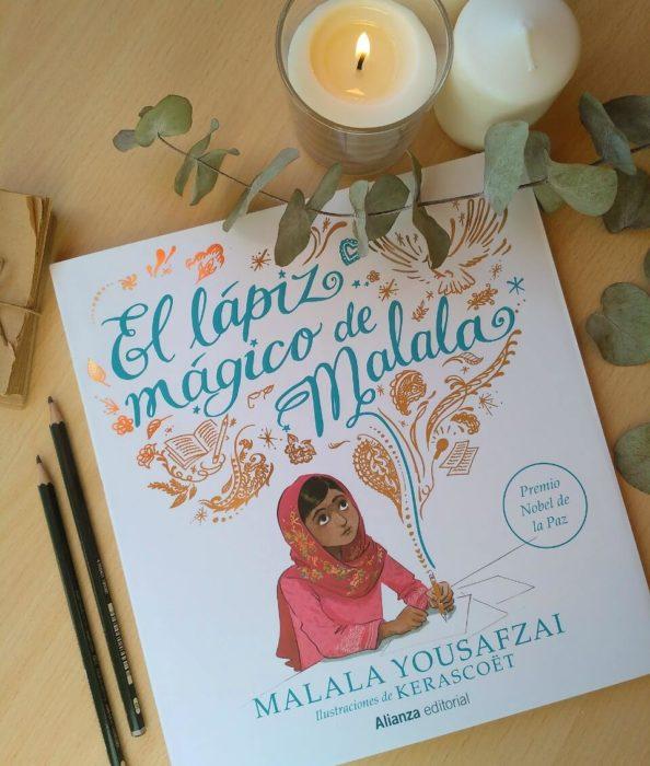 Portada de el libro El lápiz mágico de Malala de Malala Yousafzai