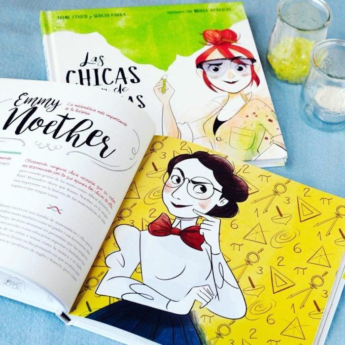 Portada de el libro Las chicas son de ciencia de Irene Cívico y Sergio Parra