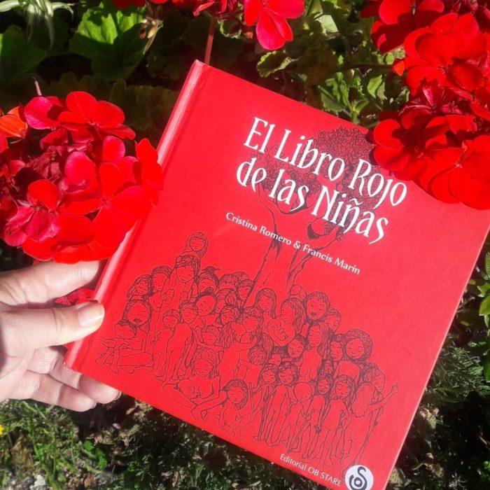 Portada de El libro rojo de las niñas de Cristina Romero y Francis Marin