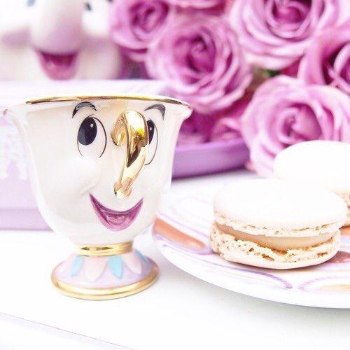 Taza cafetera inspirada en Chip de La Bella y la Bestia