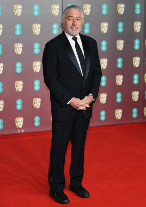 Mejores looks de la alfombra roja de los premios BAFTA 2020; Robert De Niro con traje