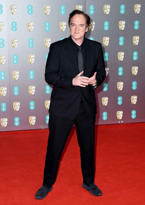Mejores looks de la alfombra roja de los premios BAFTA 2020; Quentin Tarantino con traje