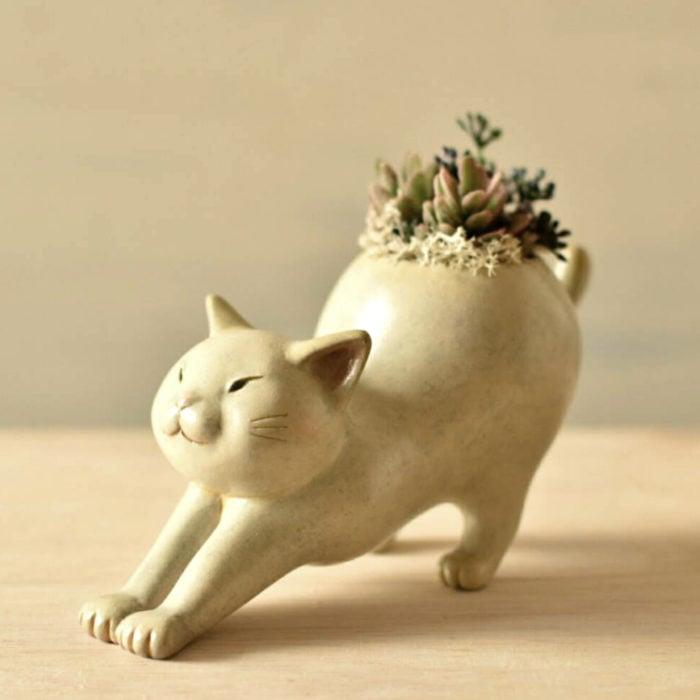 Macetas tiernas y originales de animales; gato
