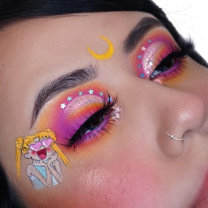 Maquillaje ColourPop de Sailor Moon; look inspirado en Serena Tsukino